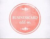 Custom Business Card Design Made to Match Your Logo