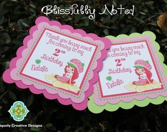Strawberry Shortcake Favor Tags