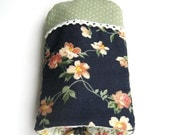 Quilted Key Holder, key cover by Hands, by Heart  made from Japanese fabrics 100% (No-7)