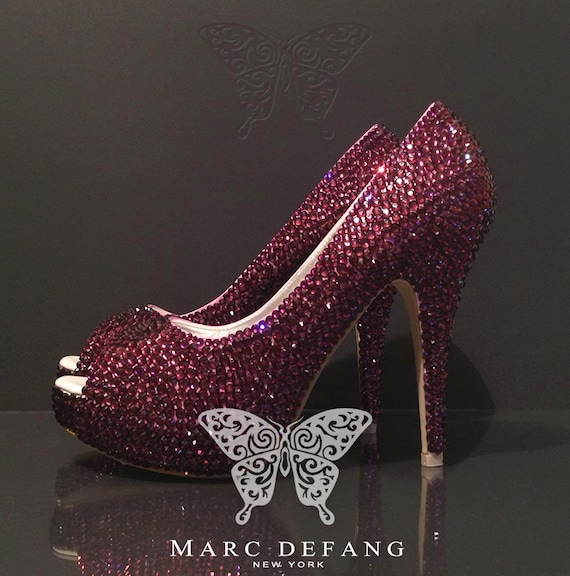 Amethyst Luxury Bridal Peep Toe Heels