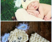 Baby Lamb, sheep  Hat and Diaper cover  - PDF Pattern