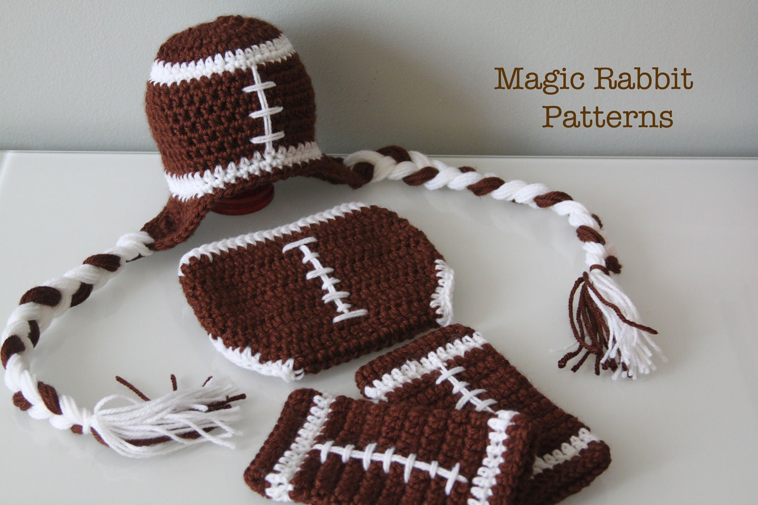 Free crochet pattern for baby football hat manet for newborn crochet football hat diaper cover by free crochet pattern bankloansurffo Choice Image