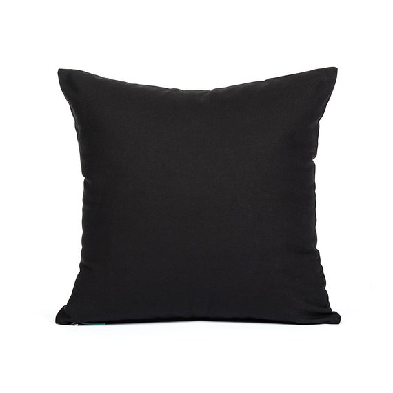 Plain Black Throw Pillow : 16 X 16 Solid Black Throw Pillow Cover by BHDecor on Etsy