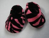 "American Girl 18"" Doll Clothes Zebra  slippers hot pink and black DYD037"