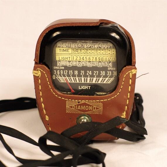 FINAL SALE- Vintage Diamond Light Meter