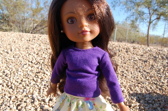 "Long Sleeve T-shirt for 14"" doll"
