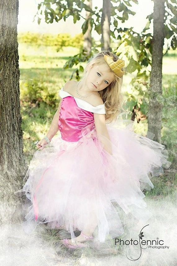 Princess Aurora/Sleeping Beauty inspired Corset Top and Tutu Costume