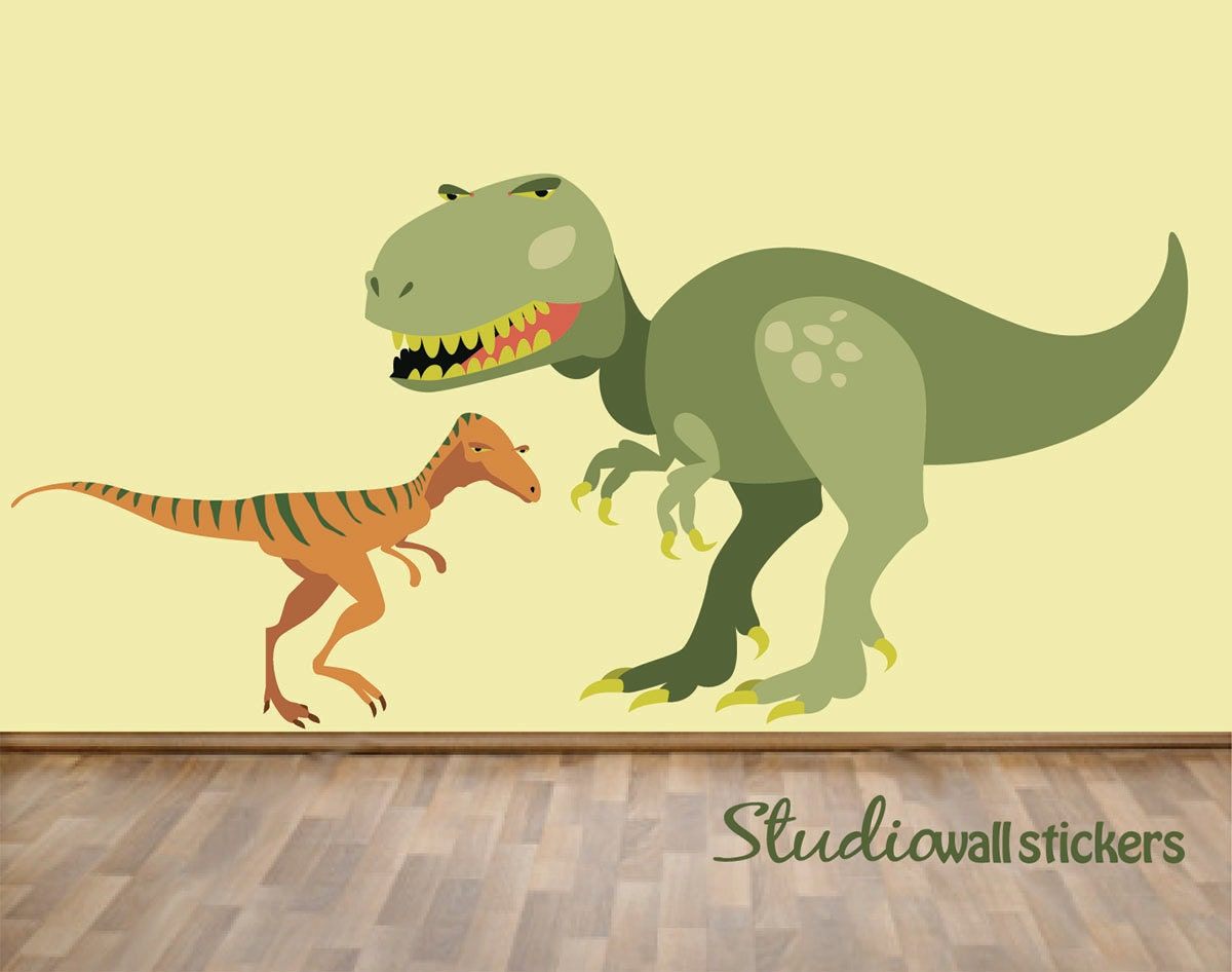 Reusable Trex Dinosaur Wall Decal Childrens Fabric Wall