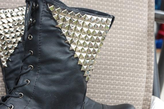 Black Studded Combat boots