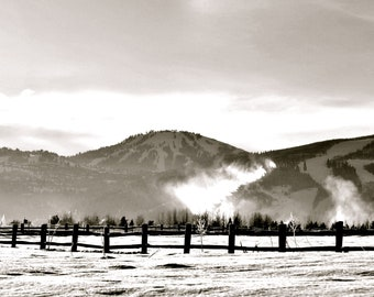Readying the Slopes in Black and White