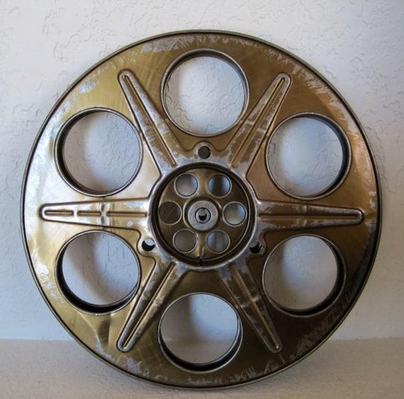 Movie Reel Vintage Metal Industrial Decor By SeaLoveAndSalt