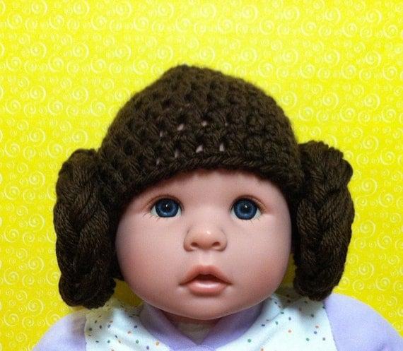 Crochet Baby Princess Leia Star Wars Hat pinterestcl 9551609 ... 3bb2d1d3597