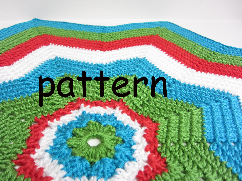 8 Point Star Blanket Crochet Pattern