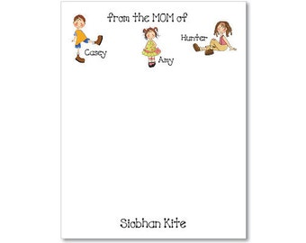 Personalized Notepads from the Mom of - set of 2