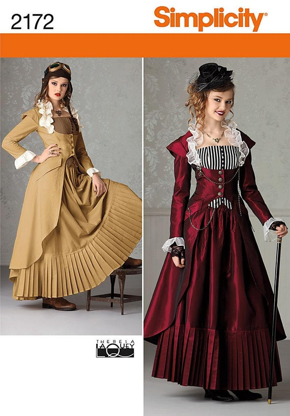 Victorian Dress Costume Pattern