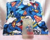 Superman toy in glycerin soap with matching face cloth