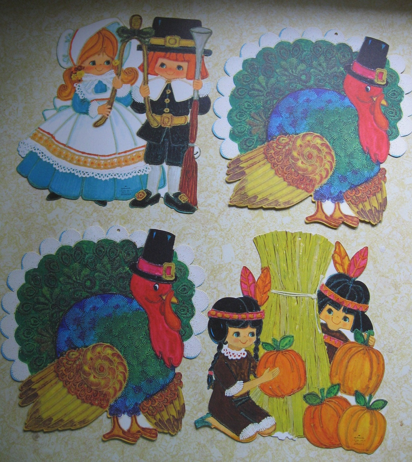 Decorating Ideas > Vintage Thanksgiving Decorations Hallmark Diecut Turkeys ~ 080207_Thanksgiving Vintage Decorations