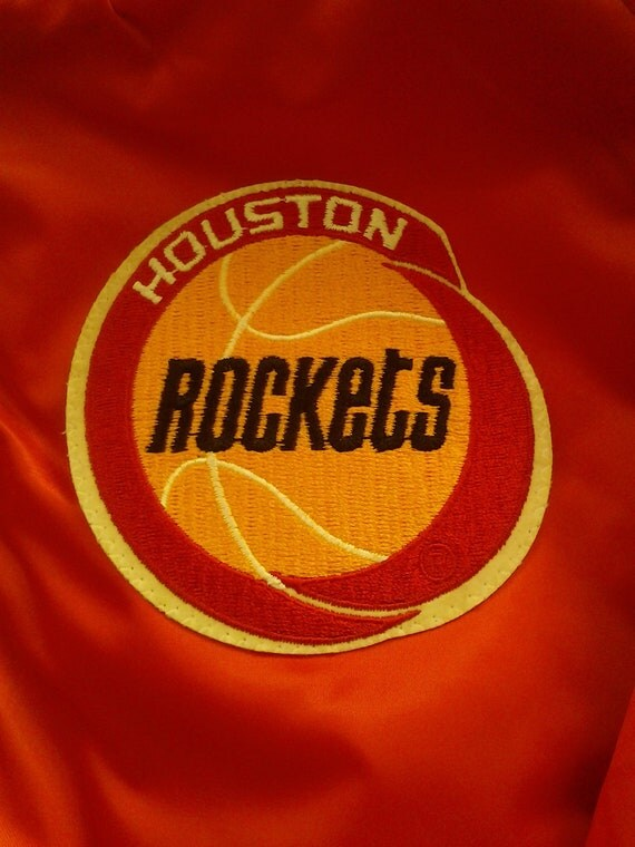 Vtg NBA Houston Rockets Team Starter style Shiny Satin Jacket New With Tags size adult xl.