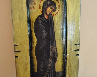 The Virgin Mary, Icon.Unique Religious Art and Gifts for Your Special Ones
