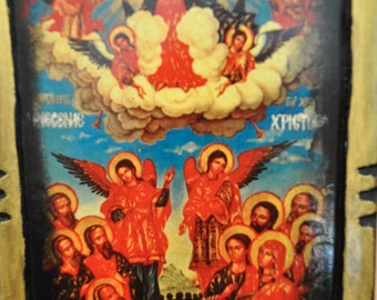 Ascension Of Christ, Icon.Unique Religious Art and Gifts for Your Special Ones