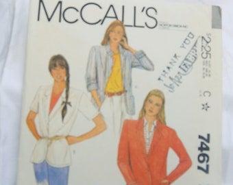 McCall's 7467 Pattern - UNCUT - Jacket - Size 16 - Vintage - Rare, Fabulous!