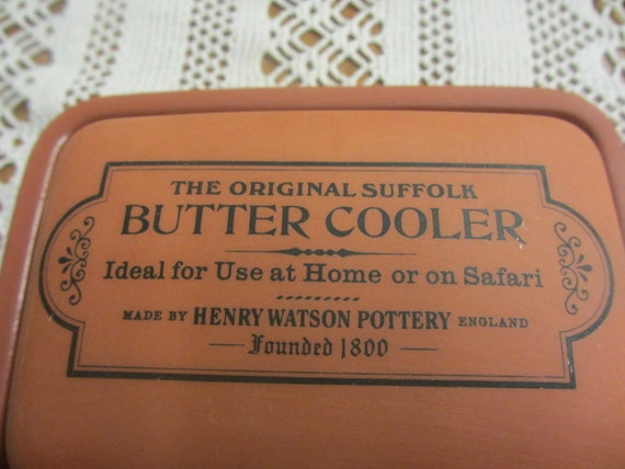 Vintage Butter Dish Cooler Henry Watson Pottery Reserved