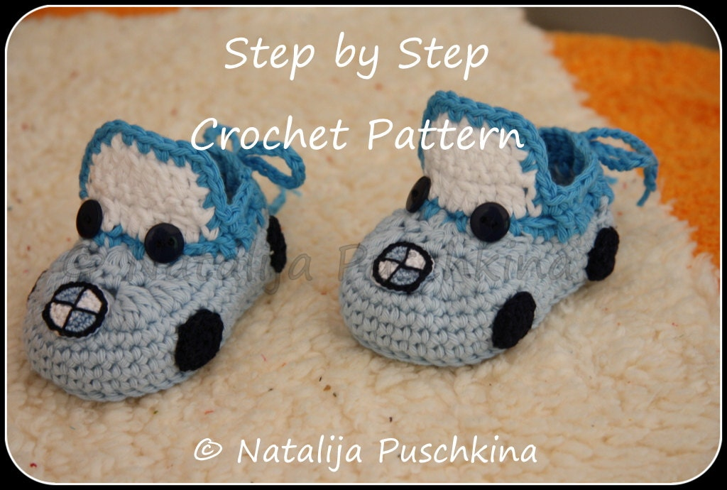 Crochet Pattern Baby Booties 39bmw Cars39 Pdf By