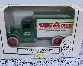 1931 Winn Dixie Die Cast Delivery Truck Bank, made by ERTL