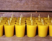 Beeswax Candles - 100% Pure Beeswax Votive Candles -- 48 Pack  -- Large 2 oz. Votives -- Free Shipping