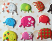 30% off. Enter Coupon Code JULYSALE at Checkout. Parade of 60 Cute Colorful Elephants Kawaii Puffy Stickers imported from Asia