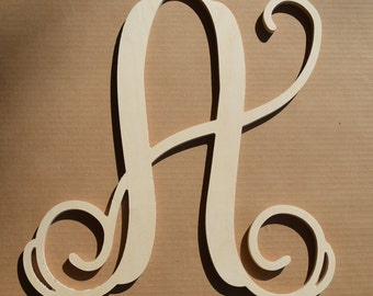 24 inch wooden monogram letter unfinishedunpainted wedding decor monogram family room door hanging