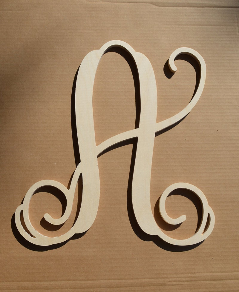 How To Make Large Wooden Monogram Letters