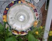 Glass Plate Flower Kelly