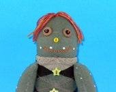 RESERVED for REBBYJ Sheldon the Turtle Sock Doll OOAK