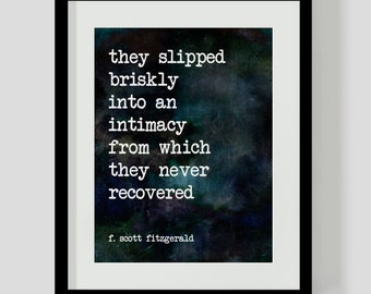 F. Scott Fitzgerald Love Literary Quote Printable PDF - Watercolor Literary Wall Art, Decor
