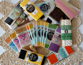30 Binding Piping Rick Rack Twill Tape & Such