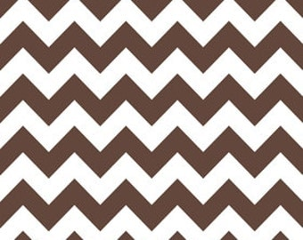 SALE 1 Yard Riley Blake Medium Chevron in Brown