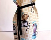 Reusable FABRIC WINE BAG -Fun and Funky 50's Kitchen