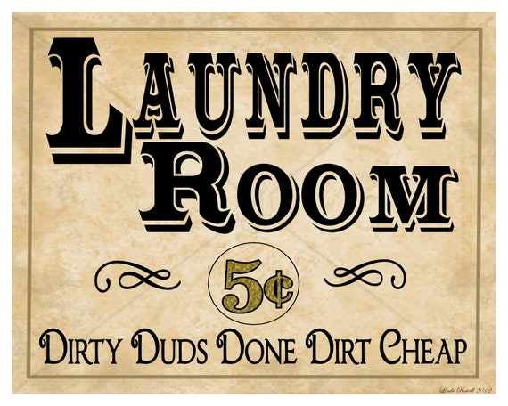 Instant Download Printable Laundry Room Sign 8X10 By