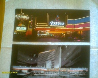 3 Vintage Stardust Casino Postcards