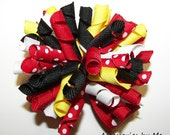 M2M Minnie Mouse Korker Pigtail Hair Bows