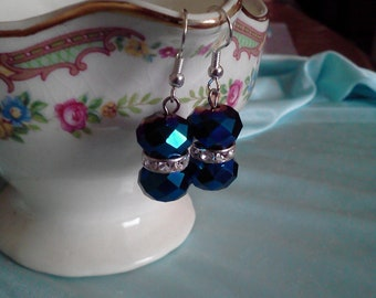 iridescent blue earrings