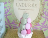 Miniature French Macaron tower