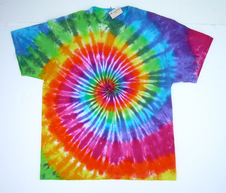 xl tie dye shirt classic rainbow spiral by