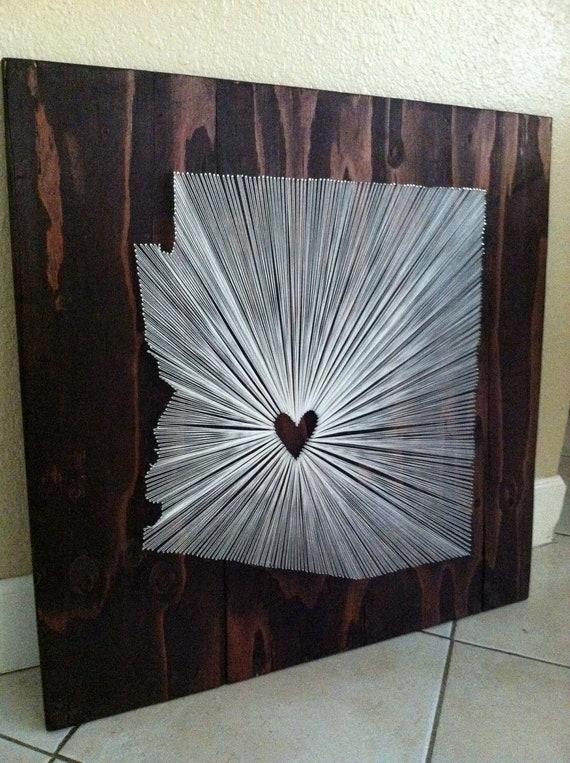 30x30 - State String Art - Arizona - Wall Hanging - Home Decor