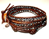 Chan Luu Inspired Leather Wrap Bracelet