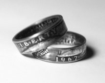 49th-1967 Coin Ring 49th Birthday Gift 49th Anniversary Gift Coin Jewelry made from a 1967 quarter