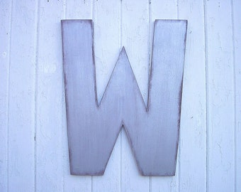 Wooden Letters Wedding Guest book Alternative 24 inch Silver Large letter Shabby Chic Letters Silver Industrial Urban Decor