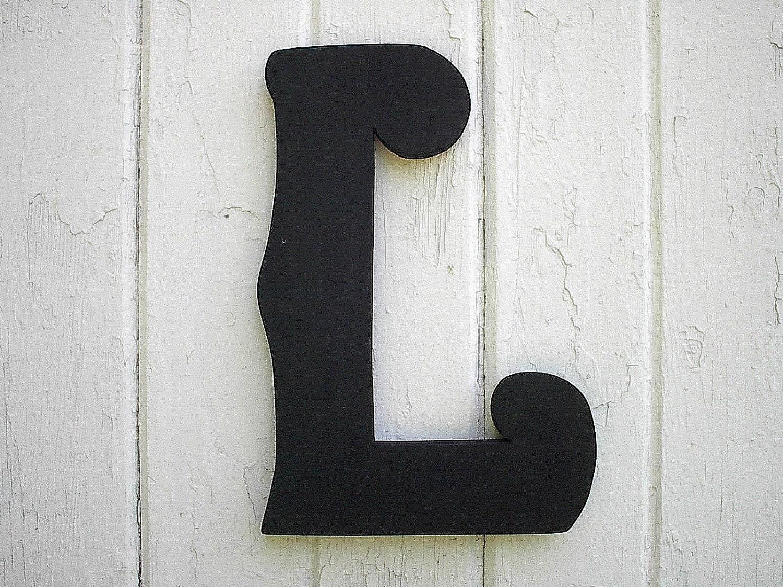Large Decorative Wooden Letters: Decorative Wooden Letters L Big 12 Black Letter Wedding