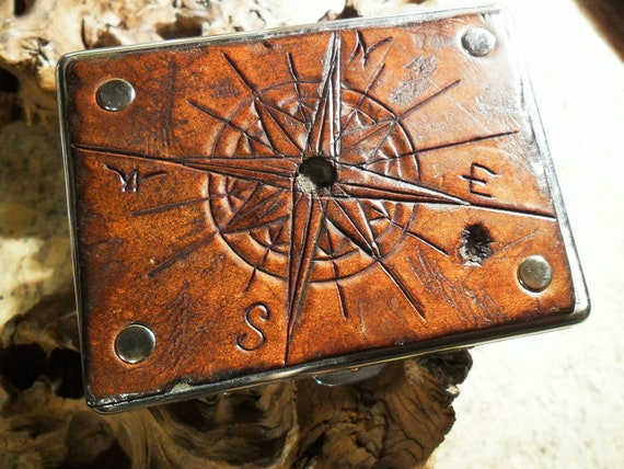 Wasteland Leather Hand Tooled, Distressed, Custom Cigarette Case- CUSTOM ORDER